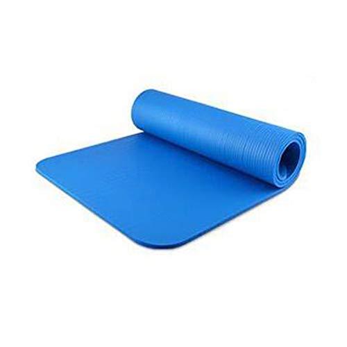 ZXMATYGOA Tappetino Fitness Tappetino Yoga Verde E Insapore Multifunzione NBR Tappetino Yoga Sport Fitness Tappetino Sit-Up Antiscivolo 185 Cm X 80 Cm X 1 Cm,Blu