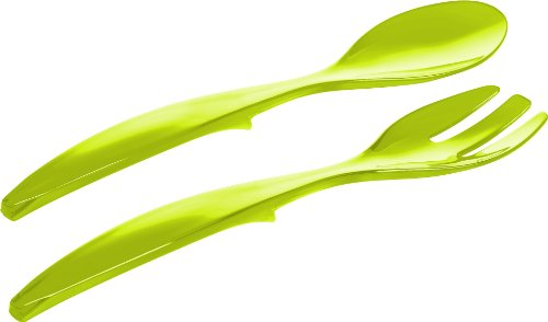 Emsa 507178 Salatbesteck, 2–teilig, Kunststoff, Länge 30 cm, Grün, Vienna