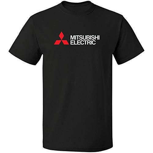 XIANGRIKUI Mitsubishi Electric Symbol T-Shirt Graphic Printed Top Tee for Men Black XL