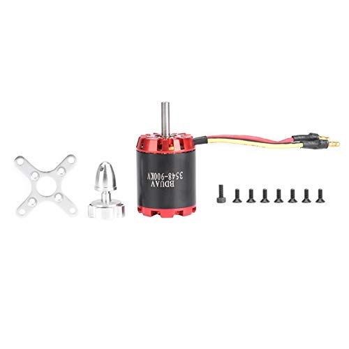 1 Uds N3548-900kv 2826 Rotor Externo, Motor Sin Escobillas Acero Inoxidable Rojo Negro 0.8-1.3n/M para Ventilador Potencia AvióN Diy