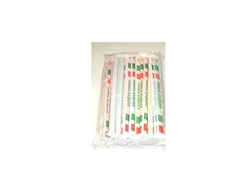 500 cannucce pieghevoli imbustate singolarmente colori assortiti 240/5 ca.