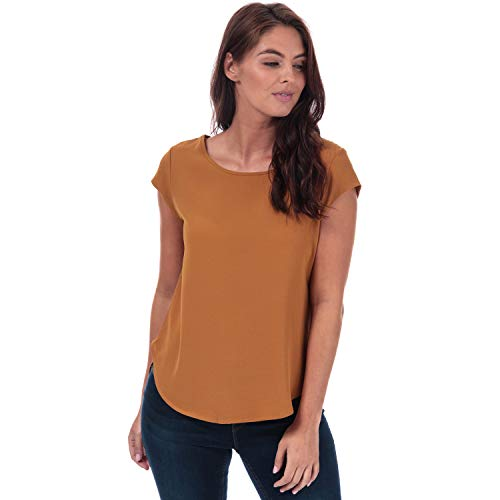 Only Onlvic S/s Solid Top Noos Wvn Blusa, Marrón (Cathay Spice Cathay Spice), X-Small (Talla del Fabricante: 34) para Mujer