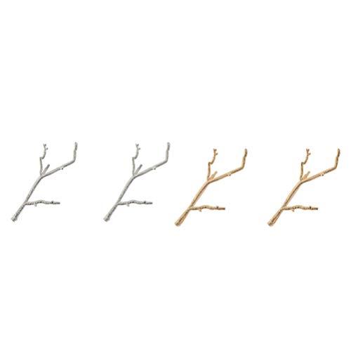 FRCOLOR 4 Piezas Pin de Pelo de Rama de Árbol Vintage Retro Minimalista Horquillas para El Cabello Vestido de Broche Clip Fascinator para Las Mujeres Niñas Accesorios para El Cabello