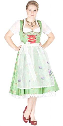 Lola Paltinger 11054 70er Dirndl grün Gold Size 38