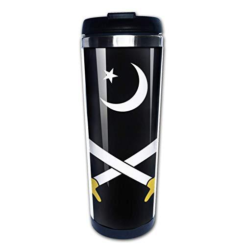 Ahdyr Taza de café de Viaje Military Intelligence of Pakistan Taza de Doble Pared aislada al vacío de Acero Inoxidable de 12 oz, Taza de café aislada para Bebidas Calientes al Aire Libre