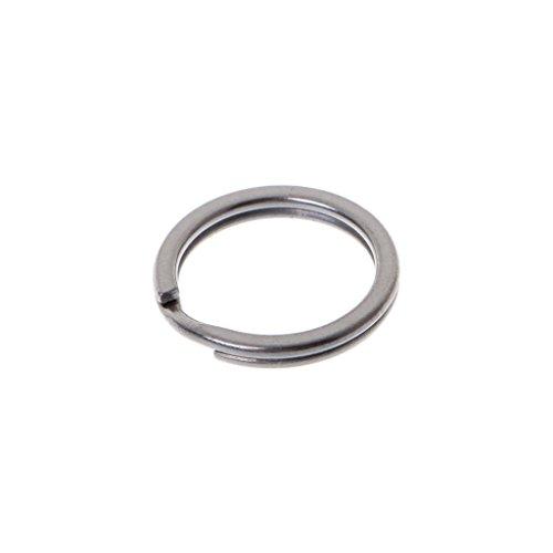 CAFFAINA Herramienta de Bolsillo para Llavero de aleación de Titanio EDC Mini Hebilla de Llavero Dividida Clip Circular - Color Titanio