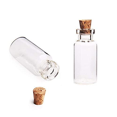 Vaso de deseo vacío, tapón de corcho Vail, botella pequeña encantadora, contenedor de almacenamiento (40 piezas)