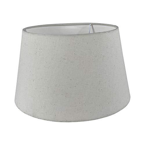 Wogati Premium Lampenschirm 30 cm x 23 cm x 18 cm / Ivory / Beige / Elfenbein / Stoff / E14 / E27 / inkl. Adapter