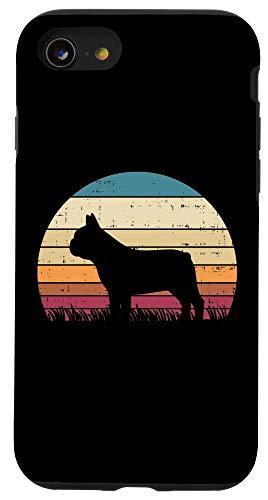 iPhone SE (2020) / 7 / 8 French Bulldog Sunset Retro Frenchie Dog Lover Owner Gift Case