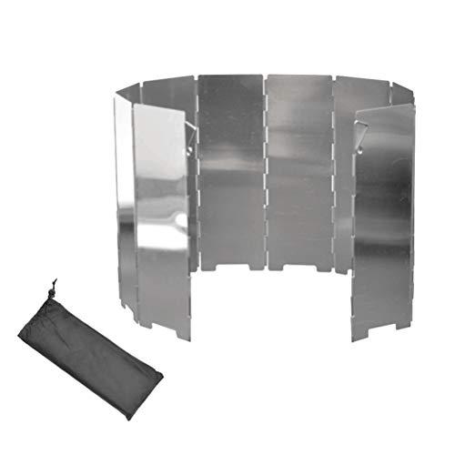 LIOOBO Campingkocher Windschutz das Aluminiumblech Faltabr Outdoor Herd Windschutzscheibe für Outdoor Camping Kochen 10 Stück