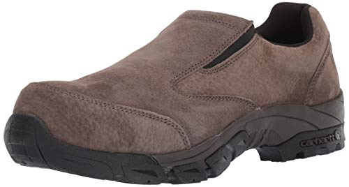 Carhartt Men's Slip On Work Moc NWP Carbon Nano Safety Toe CMO3465 Ankle Boot, Brown Suede, 10 M US