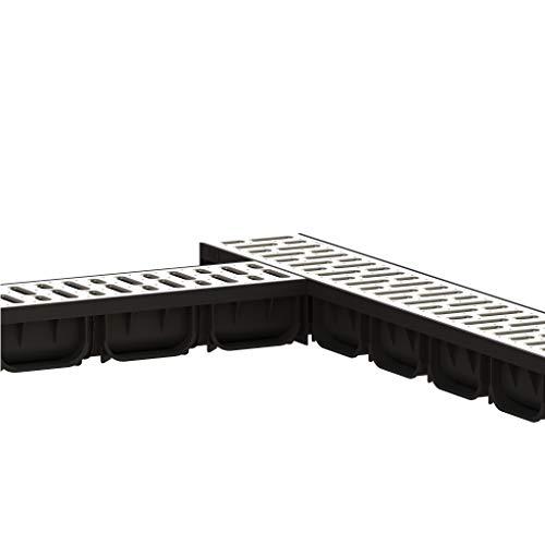 5 Metros Spark1 Canaleta con Rejilla de Acero galvanizado Kit