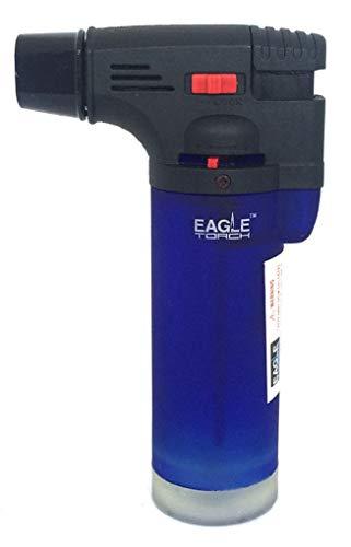 Eagle Jet Torch Gun Lighter Adjustable Flame Windproof Butane Refillable Handy (Blue)