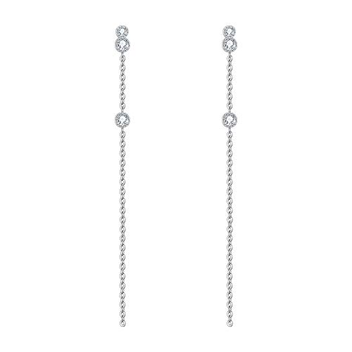 EVER FAITH Women's 925 Sterling Silver Cubic Zirconia Dainty Long Chain...