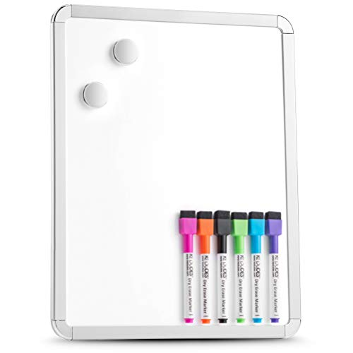 Magnetic 11'' x 14'' Small Dry Erase Board. Includes 6...