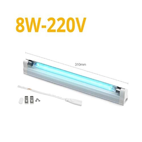 220V 110V 6W 8W UVC Quartz Ultravioletlamp T5 Tube Bulb bacteriedodende lamp Kiemdodende Disinfect UV-licht sterilisator Deodor,8w,220V without plug