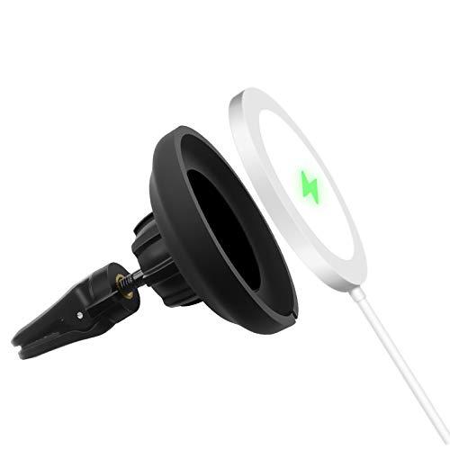 LucBuy Soporte de Ventilación para Automóvil para Cargador MagSafe, Soporte para Automóvil con Ventilación de Rotación de 360°,Soporte para Teléfono Súper Estable Diseñado para 12/Mini/Pro/MAX