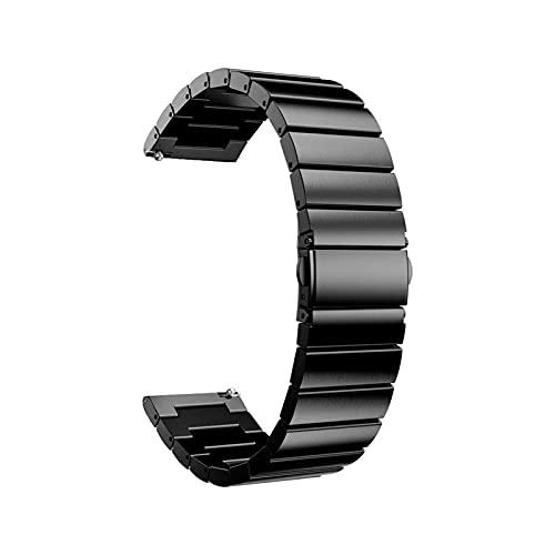 Xummy Correa de acero inoxidable, 18 mm, 20 mm, 22 mm, repuesto para reloj inteligente Samsung Gear S2 clásico, S3 Galaxy, 20 mm o S2 Classic, color negro