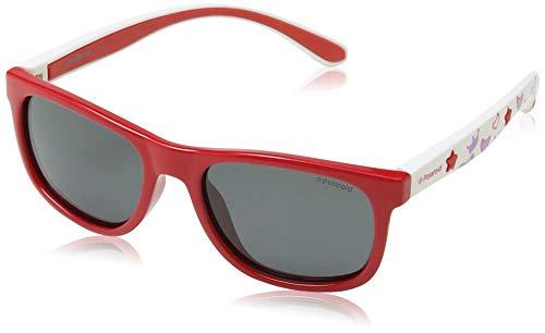 Polaroid PLD 8012/S Y2 MC4 Gafas de sol, Rojo (Coral White/Grey Pz), 46 Unisex Niños