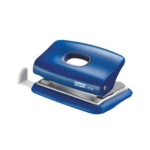 Rapid FC10 Bürolocher (Kunststoff, 10 Blatt) blau