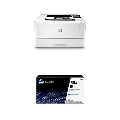 HP Laserjet Pro M404n Monochrome Laser Printer - Ethernet Only (W1A52A) with Standard Yield -Black -Toner-Cartridge