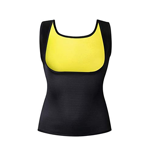 Youpin Sport-Fitness-Weste für Damen, ärmellos, Neopren, Gr. S-6XL (Farbe: Schwarz / Gelb, Größe: 4XL)