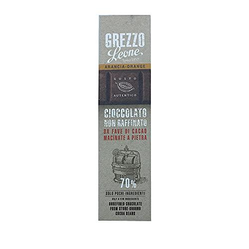Leone Rohe Steingemahlene Schokolade 70%, Orange, 55g.