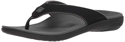 Spenco Men's Yumi Plus Sandal, Carbon/Pewter, 9 Medium US