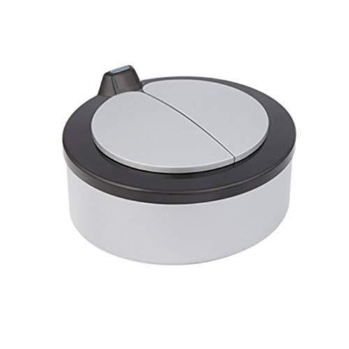 liushop Cubo de Basura Caja De Almacenamiento De Basura De Cenicero De Caja De Almacenamiento De Dulces De Escritorio De Casa Mini Caja De Basura Bote de Basura (Color : Gray)