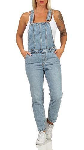 ONLY Damen Jeans Overall ONLPercy Life Latz-Hose mit Trägern 15223972 Light Blue Denim XL/32