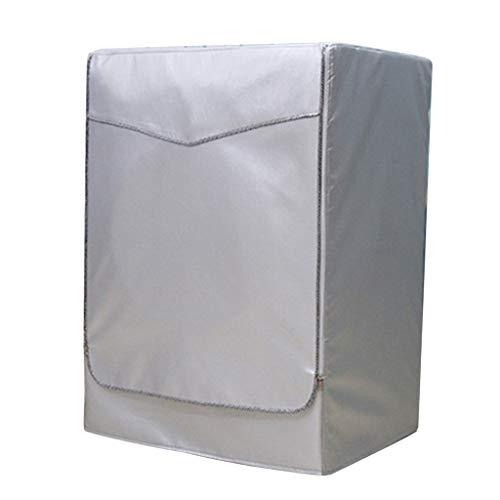 SM SunniMix Anti Staub Wasserdichter Reißverschluss Waschmaschine Trockner Abdeckung Schutzhülle Schutzhaube - Silber Zip - XL