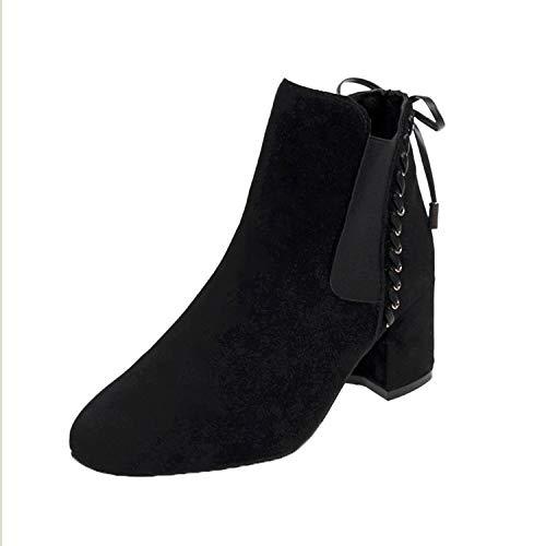 Shukun enkellaarsjes Women'S Laarzen Dames Schoenen Dik Met Mat