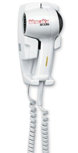 Andis 33495 1600-Watt Wall Mounted HangUp Hair Dryer with Night Light, White