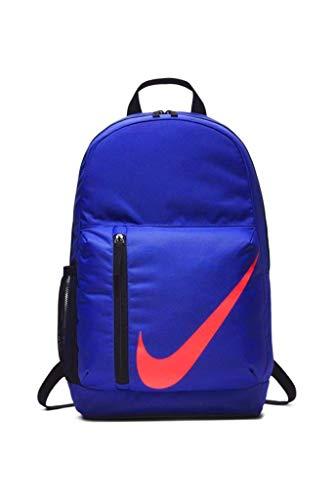 Nike Elemental Rucksack, 22 l, für Damen und Mädchen, Unisex, Blau / Orange