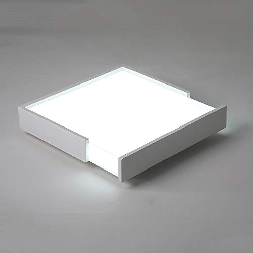 Lighfd LED Light Kroonluchter Plafondlamp inbouw 24W rechthoek Modern Inrichting for Living Badkamer Keuken Aisle Slaapkamer Balkon Warmlight Daglicht Wit-plein