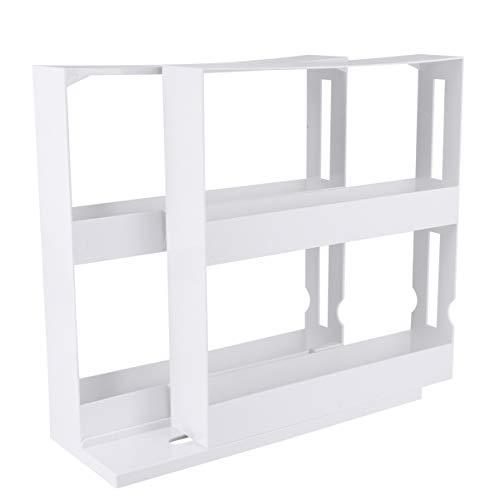 TOPBATHY Delicado estante para especias, doble almacenamiento de alimentos, estante giratorio de almacenamiento de especias para cocina y baño
