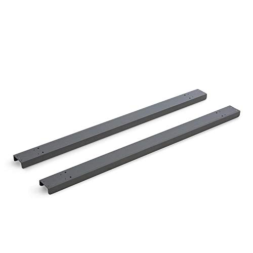 blumfeldt Palazzo Base Standplatte für Pavillon Bodenbefestigung (2 x Standfüße, pulverbeschichtet, Stahl, inkl. 16 Schrauben) schwarz