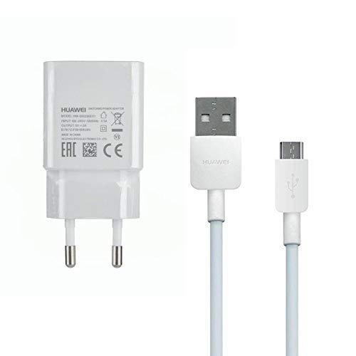 TELEFONMAX Original Power Adapter Ladegerät HW-050200E01 2Ampere Weiß/Ladekabel MicroUsb für Huawei P10 Lite/ P9 Lite/ P8/ P8 Lite/ P8 Lite 2017/ P Smart/P Smart 2019 Honor 7 6/ Ascend P8 P7 UVM