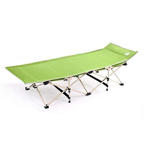 ZHANGYY Silla Tumbona, Tumbona Plegable con Capacidad de Peso portátil de hasta 150 kg para Acampar, Viajar y Descansar en casa (Color: Verde)