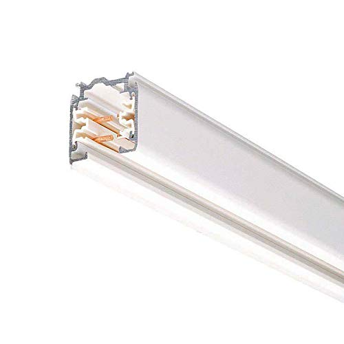 Carril trifásico con conector, 2 metros, blanco