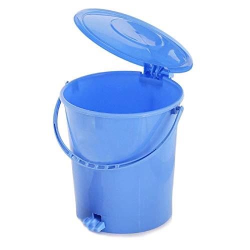 Kuber Industries Plastic Dustbin Garbage Bin with Handle, 10 Liters (Blue) - CTKTC034631