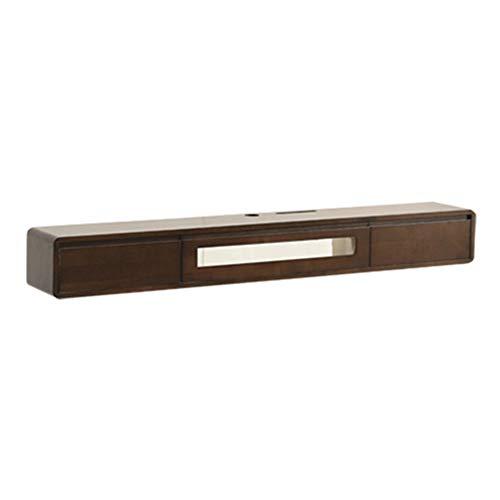 Hängeschrank Fernsehschrank, TV Lowboard Hängeboard, TV-Hängeschrank, große Kapazität, Platz für Multimedia-Player usw, geeignet für kleine Wohnungen/D / 140×24×20cm