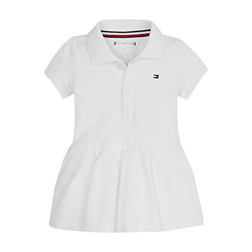 Tommy Hilfiger Baby Girl Polo Dress S/s Blusa, Blanco (White Yaf), Talla única (Talla del Fabricante: 80) para Bebés