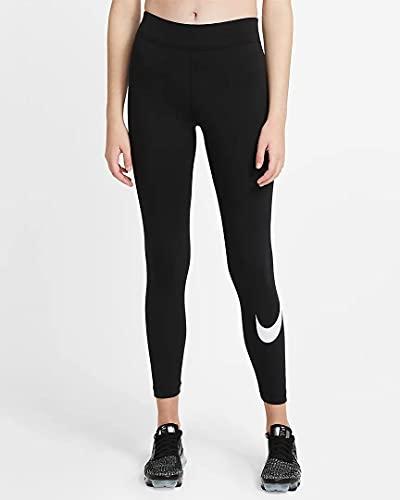Nike Damen Essential Gx Mr Swoosh Hose, Black/White, XL