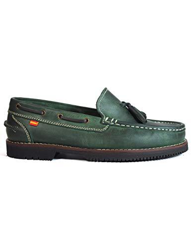 buenos comparativa Zapatos La Valenciana Montijo Green Marine Leather – Color – Verde, Talla – 45 y opiniones de 2021