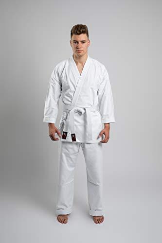 Budodrake Karateanzug Akita weiß 10 oz (120)