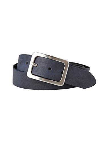 TOM TAILOR Frauen Belts klassischer Leder-Gürtel Gr:-85 EU, Farbe:-Marine / Navy