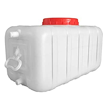 LCC Réservoir d'eau carré Horizontal de réservoir de Stockage d'eau de Seau de Grande capacité, fermenteur Horizontal Blanc épais de réservoir d'eau avec Le Couvercle Seau en Plastique de catégorie