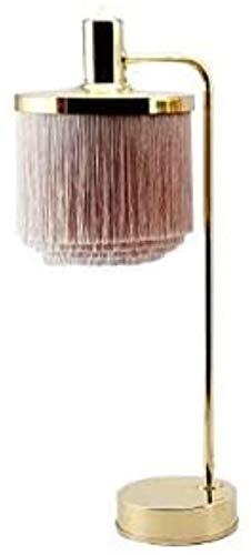 FengLing Morden LED lámpara de Mesa Rosa Flecos Princesa iluminaciones iluminaciones Creativas borlas Decorar Hierro Arte Escritorio Luces