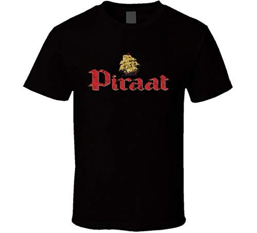 N/Y Piraat Belgisches Bier Ale Lover Cool Worn Look T-Shirt Schwarz Gr. XXL, Schwarz
